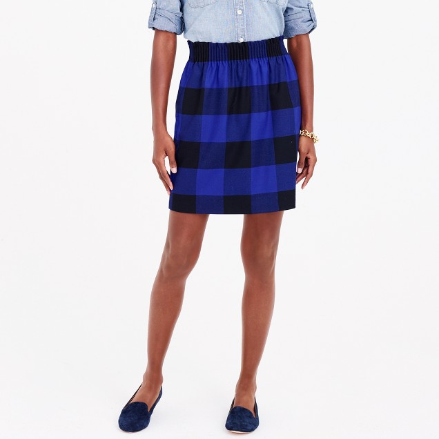 Wool sidewalk skirt in plaid