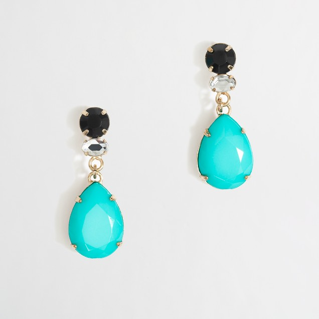 Factory dangling teardrop earrings