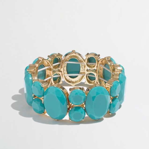 Factory crystal stretch bracelet