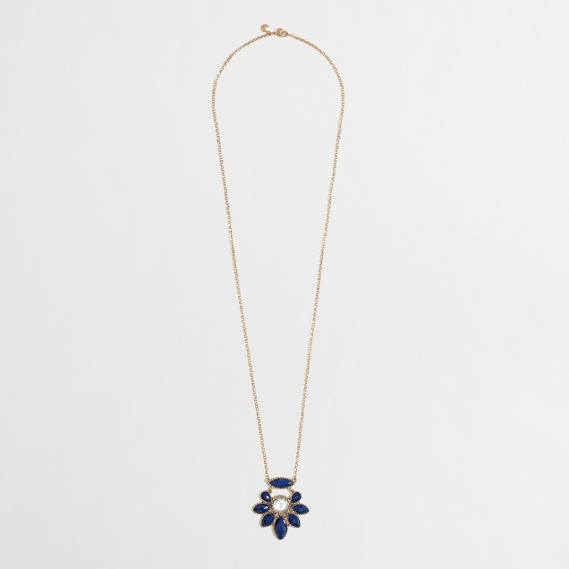 Factory flower pendant necklace