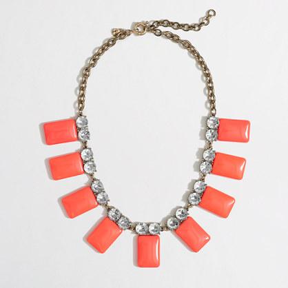 Factory neon tile collar necklace
