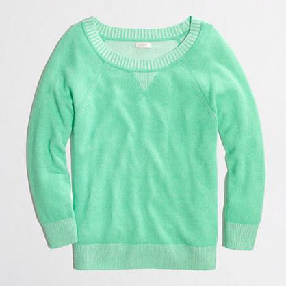 Factory plaited sweatshirt