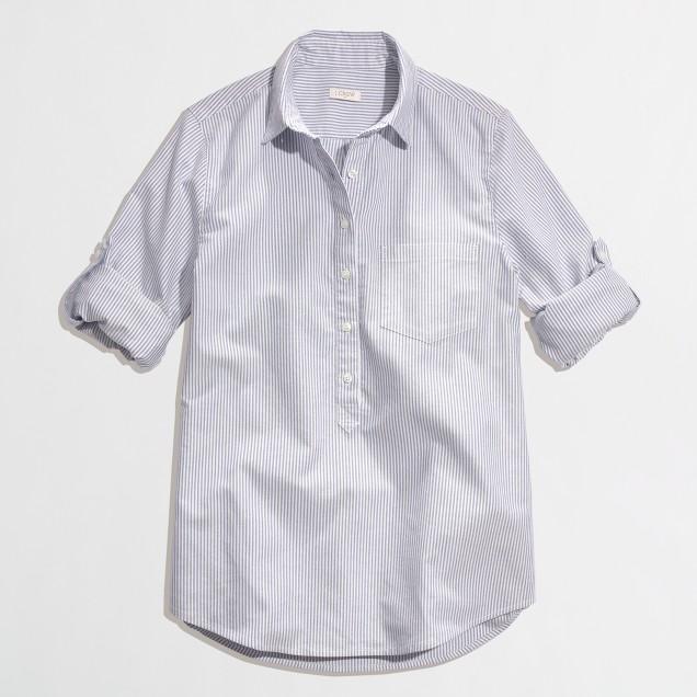 Stripe oxford popover shirt
