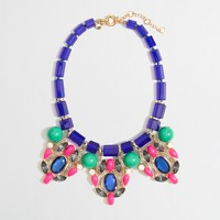Factory stone and crystal statement necklace