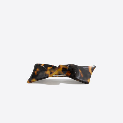 Tortoise bow barrette