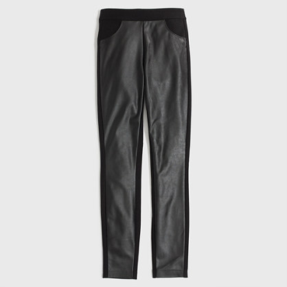 Factory leather-panel Gigi pant