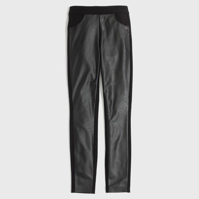 Factory leather-panel Gigi pant