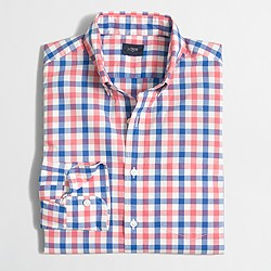 Factory washed shirt in multicolor tattersall