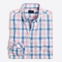 Washed shirt in multicolor tattersall