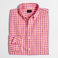 Tall washed shirt in multicolor tattersall