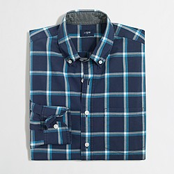 Factory washed shirt in multiplaid