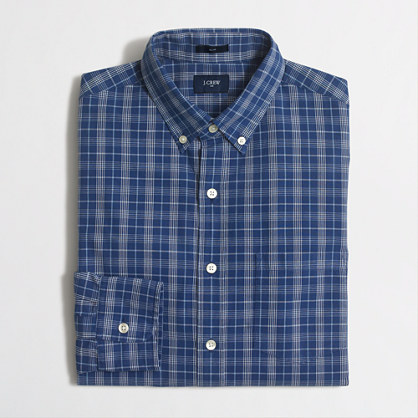 Washed shirt in multiplaid