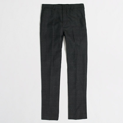 Factory Thompson suit pant in glen plaid flannel