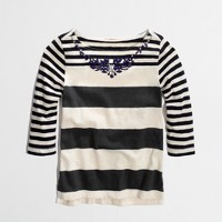 Factory girls' multistripe necklace tee
