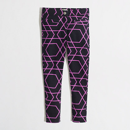 Factory girls' Gigi pant in geometric print