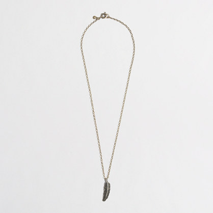 Factory crystal feather necklace