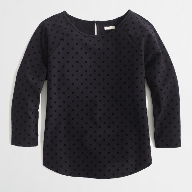 Factory dotted ponte top
