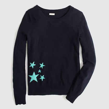 Factory warmspun intarsia star sweater