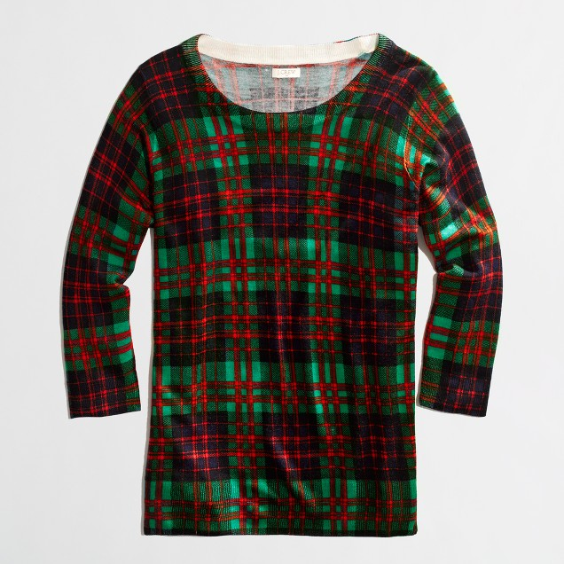 Factory Charley sweater in tartan