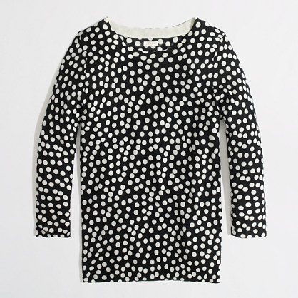 Factory merino Charley sweater in scattered dot