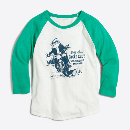 Boys' motorcycle Santa storybook T-shirt