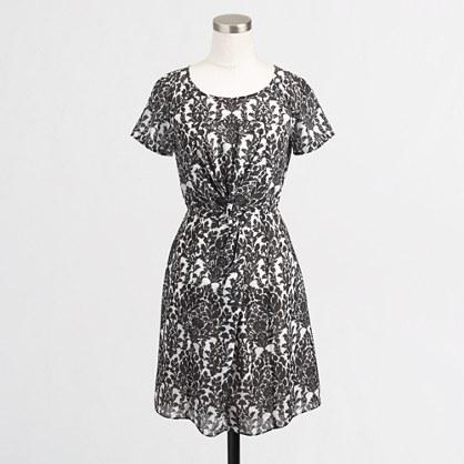 Factory twist-front dress