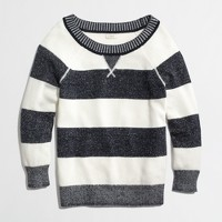 Factory stripe plaited sweatshirt