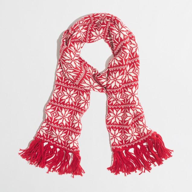 Factory Fair Isle scarf