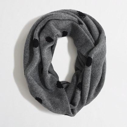 Factory polka-dot infinity scarf