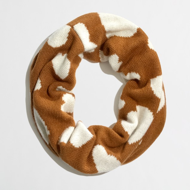 Factory knit infinity scarf