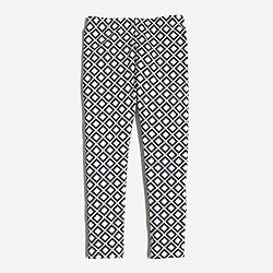 Girls' leggings in diamond
