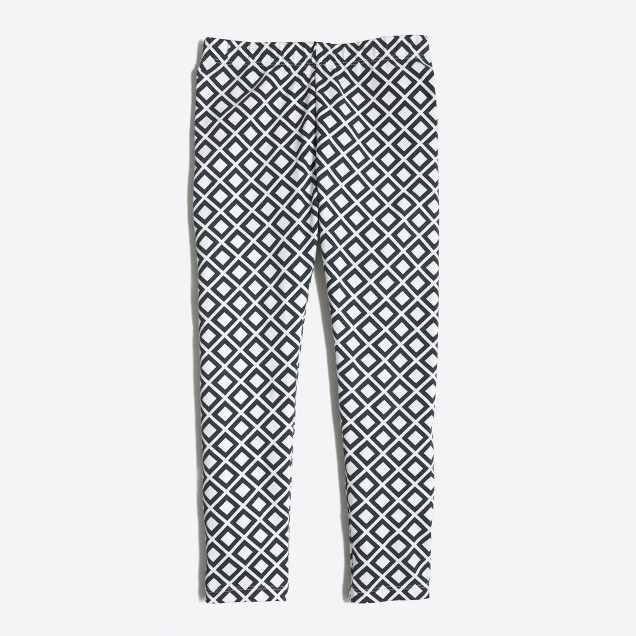 Girls' leggings in diamond