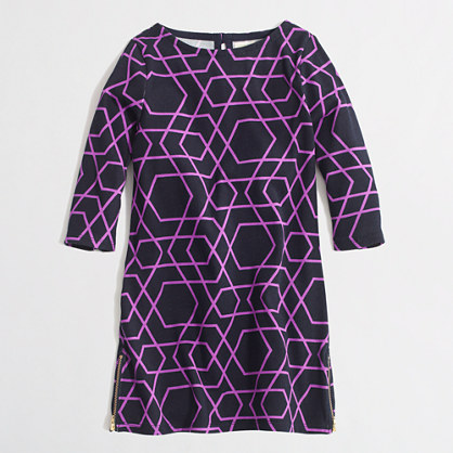 Factory girls' geometric boatneck dress