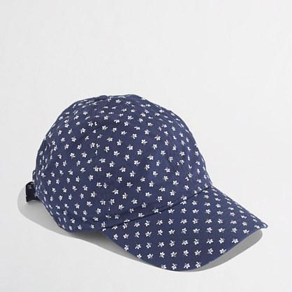 Factory floral baseball cap