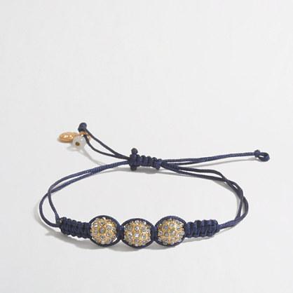 Factory girls' rhinestone string bracelet