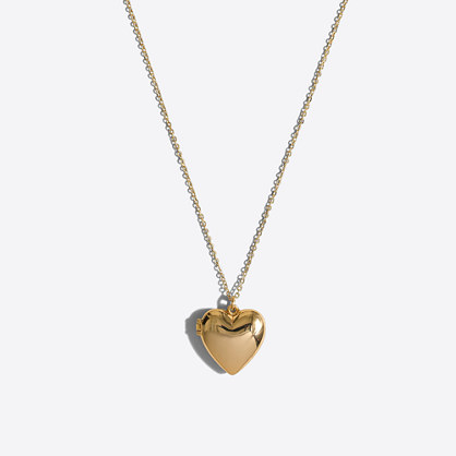Girls' heart locket necklace