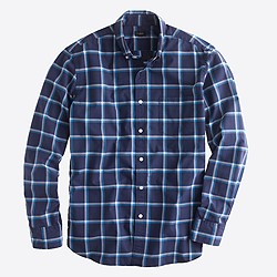 Factory washed shirt in chatham bay check