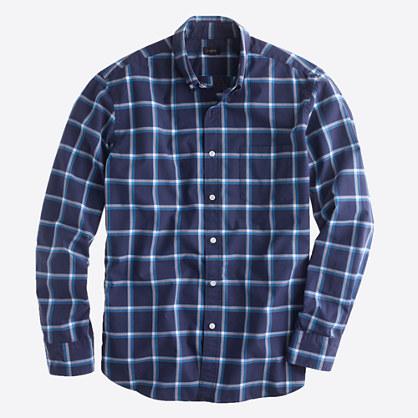 Washed shirt in chatham bay check