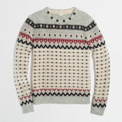 Factory warmspun dotted Fair Isle sweater : FactoryWomen Pullovers ...
