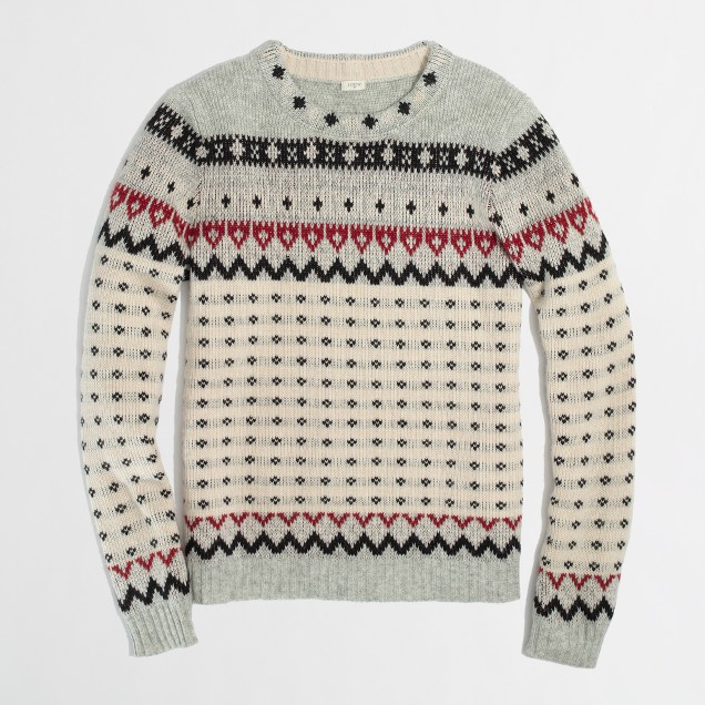 Factory warmspun dotted Fair Isle sweater