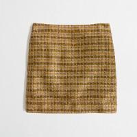 Factory metallic tweed mini