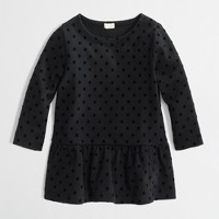 Factory girls' dotted peplum top
