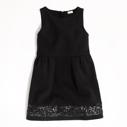 Factory girls' sequin-hem stretch dress