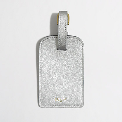 Factory leather luggage tag