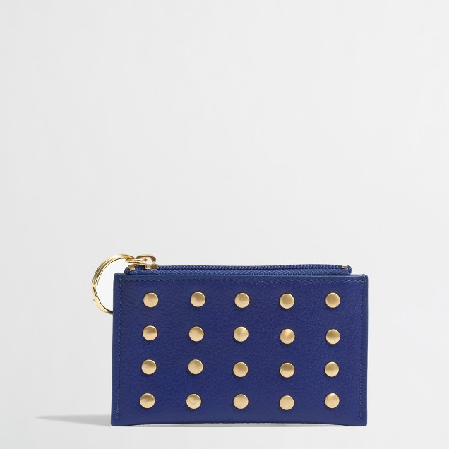 Factory studded keychain wallet