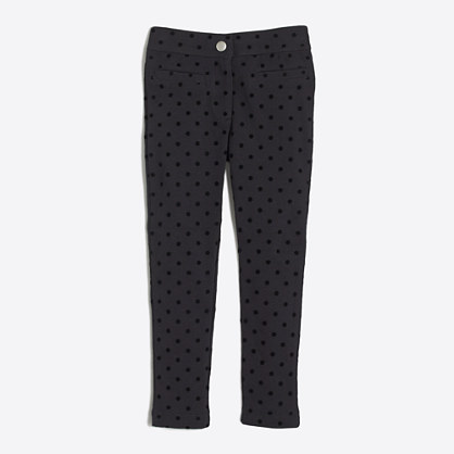 Girls' Gigi pant in velvet dot