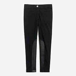 Girls' leather-panel Gigi pant
