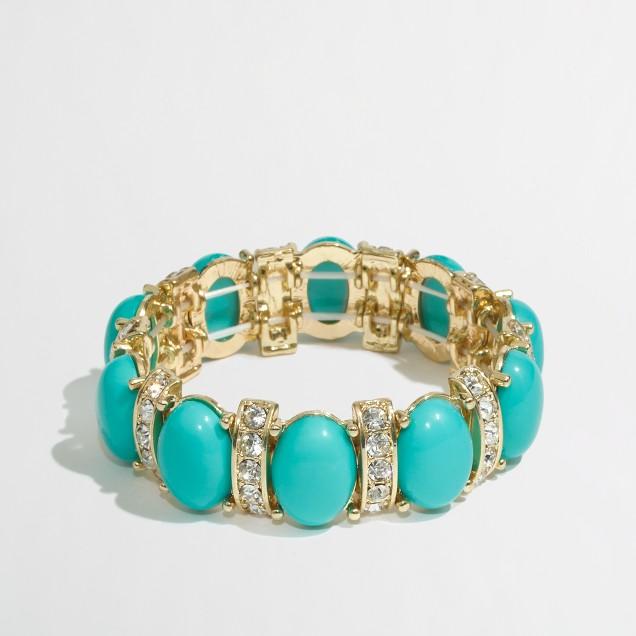 Factory bubble crystal stretch bracelet
