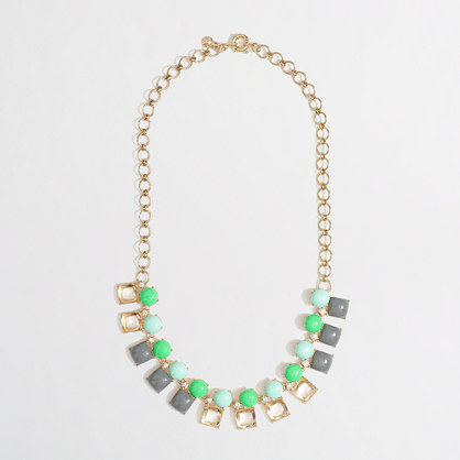 Factory crystal shapes necklace