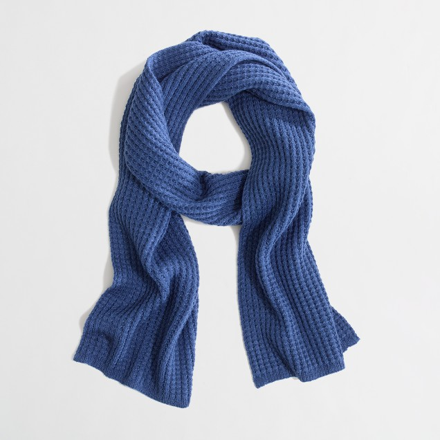 Factory waffle scarf